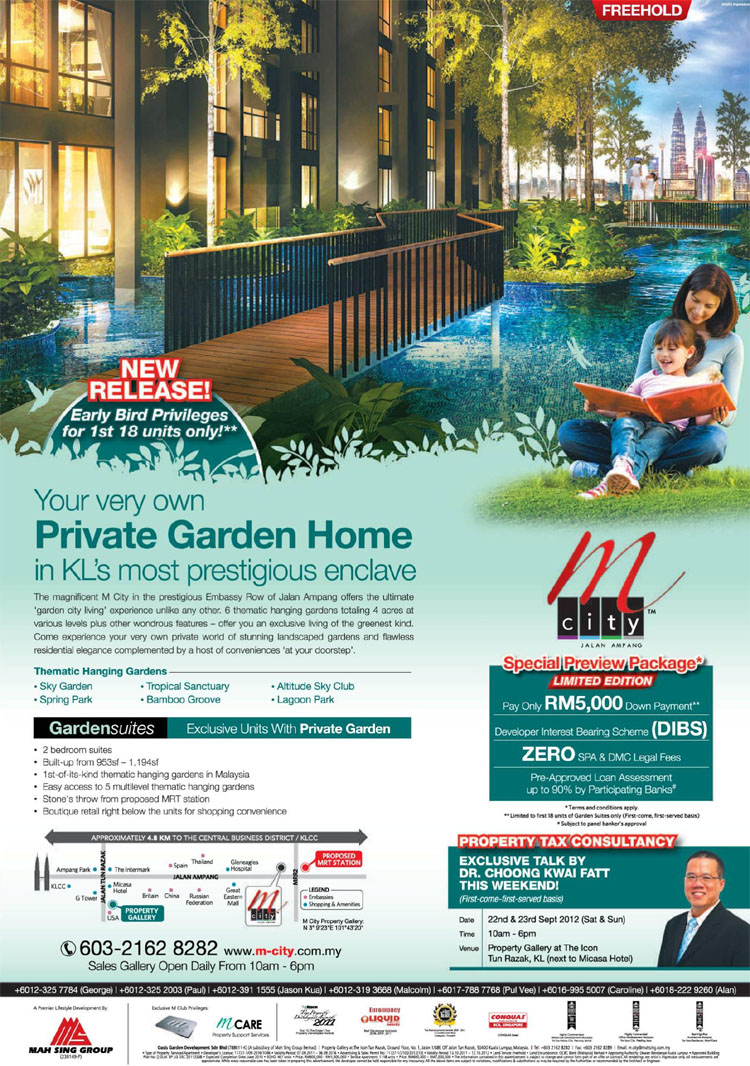 Garden Suites Exclusive Units with Private Garden @ M City