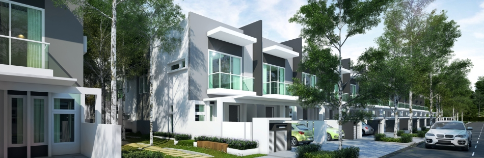 2 Storey Terrace Garden Homes